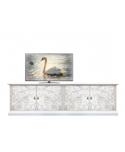 decorated entertainment unit, TV unit, Wooden TV stand, living room TV cabinet, TV cabinet in wood, living room entertainment unit, Arteferretto TV stand, Arteferretto furniture, Italian design furniture, Italian design Tv unit