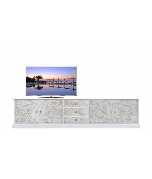 Living room Tv stand with decorations. Sku 4013-spat