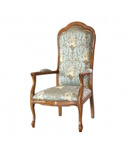 upholstered armchair, wooden armchair, wood armchair, living room armchair, armchair in classic style, classic style furniture