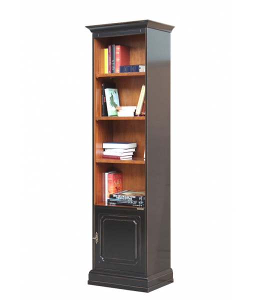 Two tone space saving bookcase for living room. Sku 89-n-bic