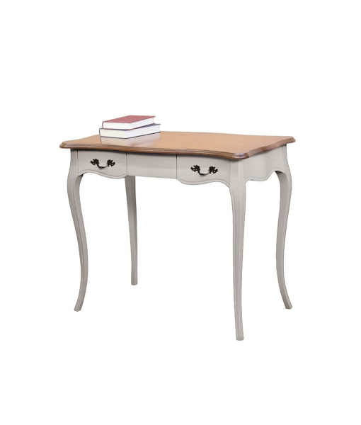 Two tone office desk in wood. Sku Cav-T-01 Taupe colour structure + Cherry top