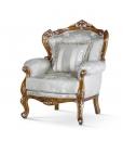 carved beech wood armchair, wooden armchair, solid wood armchair, luxury armahcir, living room amrchair, upholstered armchair, Italian design armchair