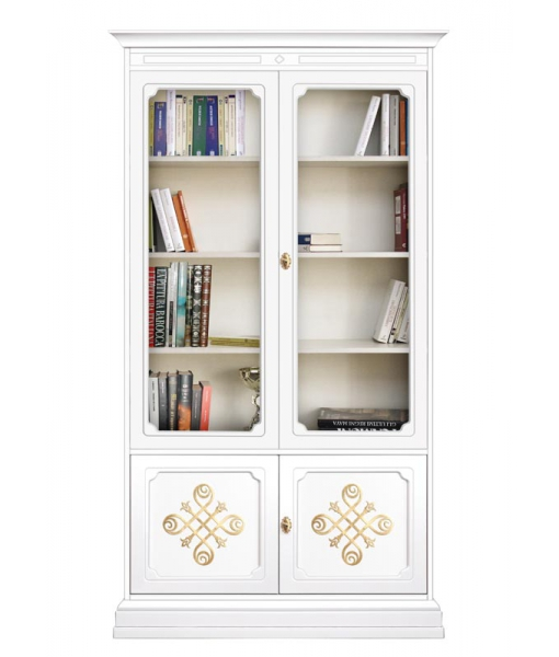 Golden decorations display cabinet with glass doors. Sku 204-you_gold
