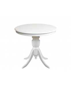 dining table in wood, wooden table, kitchen table, white table, rounded dining table, round table in wood