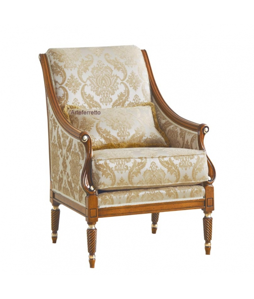 Reading armchair in solid wood. Sku ms-e31