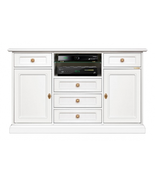 Living room entertainment TV cabinet in wood. Sku 4047_styl7