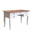 two tone writing desk, wooden writing desk, wooden desk, office desk, 5 drawers desk, Arteferretto writing desk, Arteferretto furniture, bureau