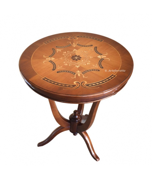 Inlaid side table in wood. Sku f04-rf