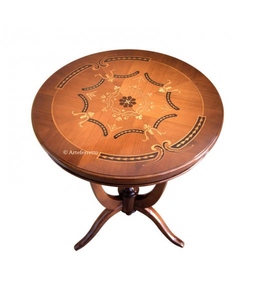 Inlaid side table, wooden side table, inlaid side table, inlaid top, classic style side table, Italian design side table