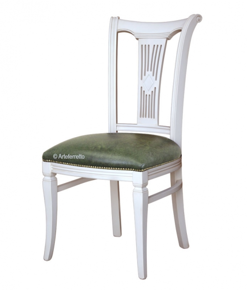 Lacquered dining chair in wood. Sku fr-43-bi