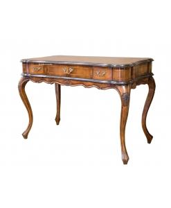 handcrafted Venetian desk, Italian desk, Classic style desk, luxury desk in wood, wooden writing desk, Italian classic design, Carved desk