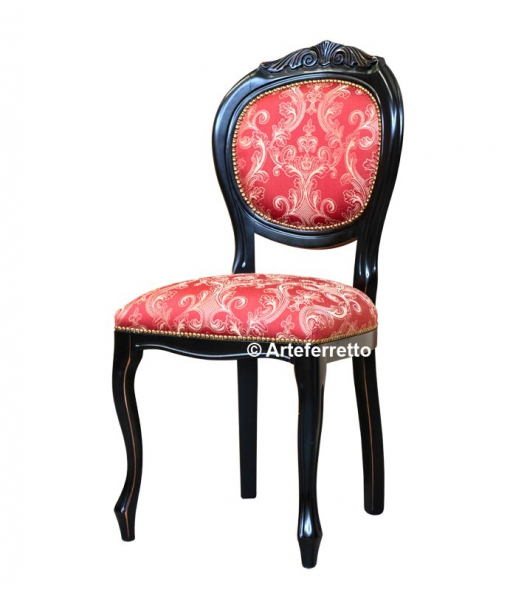 lacquered carved chair for dining room. Sku vis-12-n