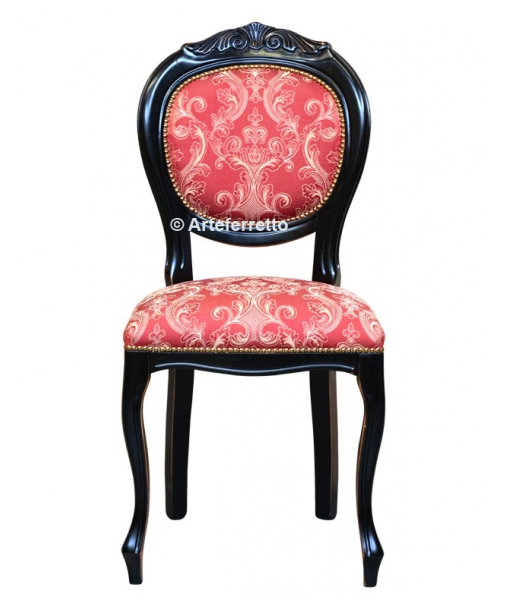 Lacquered chair, classic chair, carved chair, lacquered carved chair, dining chair, Italian design chair