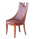 living room chair, armchair, original shape chair, Italian design chair, wooden chair, upholstered chair