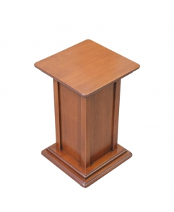 pedestal stand, wooden pedestal, plant pedestal, column in wood, wooden plant holder