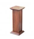 pedestal stand, wooden pedestal stand, wooden column, wooden support for plants, wooden structure, pedestal in wood