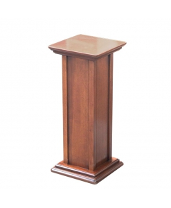 pedestal stand, wooden pedestal stand, wooden column, wooden support for plants, wooden structure, pedestal in wood