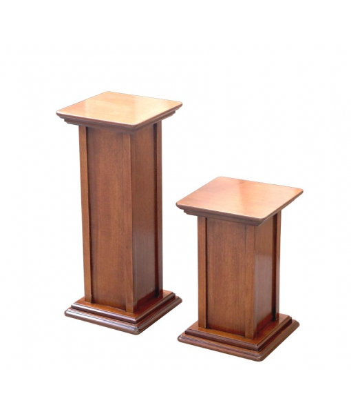 Couple of pedestal stand s in wood. Sku pv-4060